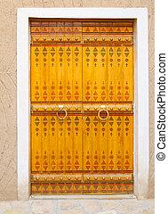 Traditional arabic doorway (National museum, Riyadh, Saudi...