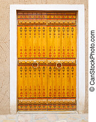 Traditional arabic doorway (National museum, Riyadh, Saudi...