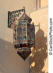 Traditional arabic lantern in Doha, Qatar