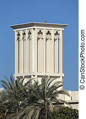 Traditional Arabic Wind Tower in Dubai