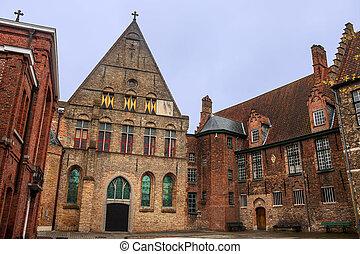 Traditional architecture in Bruges, Belgium