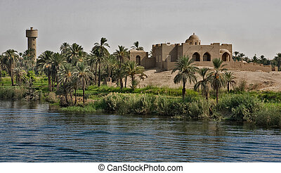 Traditional architecture in Egypt - Town located in the...