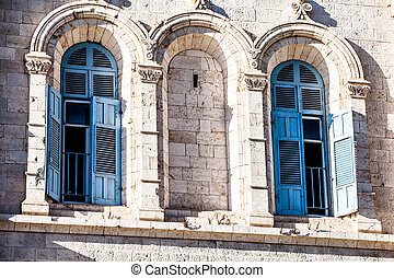 Traditional architecture in Jerusalem, Israel.