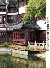 Traditional architecture in Yuyuan Garden in Shanghai, China