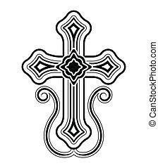 Traditional Armenian Apostolic Church cross clip art. Vector illustration