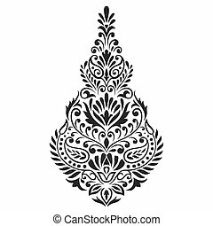 Traditional Asian motif design on white background