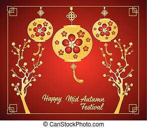 Traditional background for traditions of Chinese Mid Autumn...