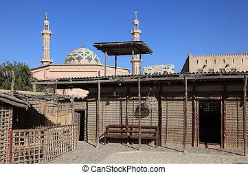 Traditional Bedouin Village in Ajman Museum, United Arab Emirates