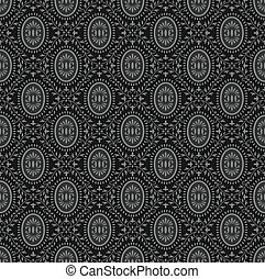 Traditional black seamless wallpape