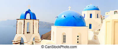 Traditional blue and white church
