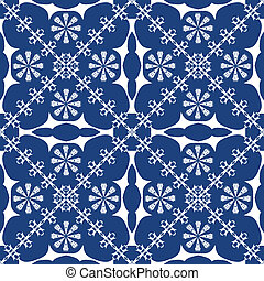 traditional blue background