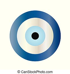 traditional blue evil eye vector