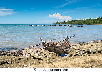 Traditional boat, Nosy Be, Madagascar