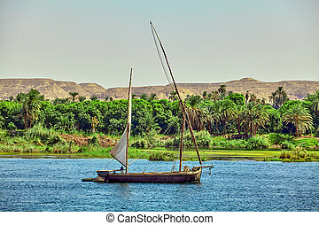 Traditional Boat on the Nile River in Egypt