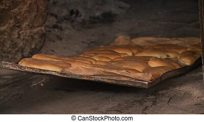 Traditional Bread Baking By Locals, Andes, Peru - Close-up,...