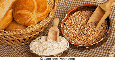 traditional bread with ingredients