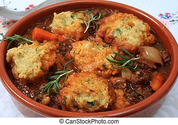 Traditional British stew - A traditional British stew,...