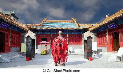 Buddhist temple, Beijing, China - Traditional Buddhist...
