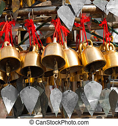 Traditional Buddhist wind bells. Myanmar (Burma)