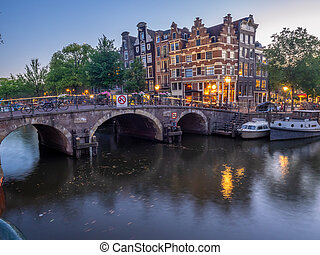 Traditional canal houses, Amsterdam