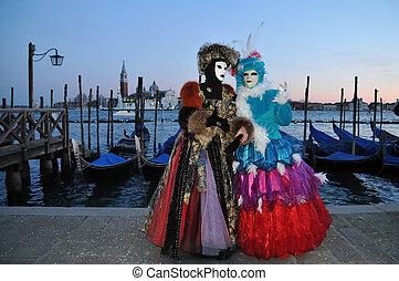 Venice mask - Traditional carnival Venice mask with colorful...