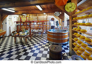 traditional cheese farm in the netherlands taken with a wide...