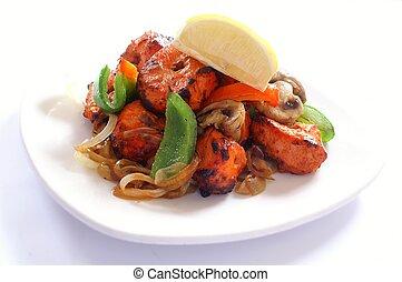 traditional chicken tikka starter