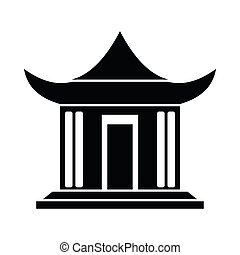 Traditional Chinese House icon, simple style