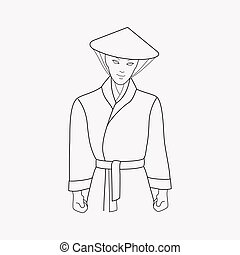 Traditional chinese icon line element. Vector illustration of traditional chinese icon line isolated on clean background for your web mobile app logo design.