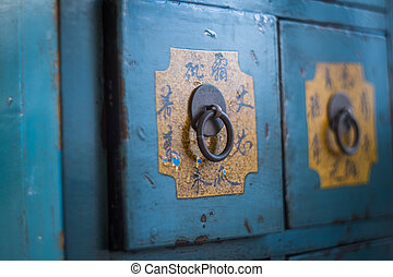 Traditional Chinese medicine cabinets are valuable.