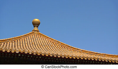 Traditional chinese roof top detail