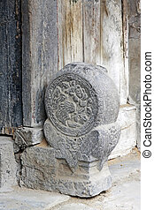 traditional Chinese style door stone carving