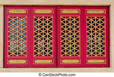 Traditional Chinese temple window