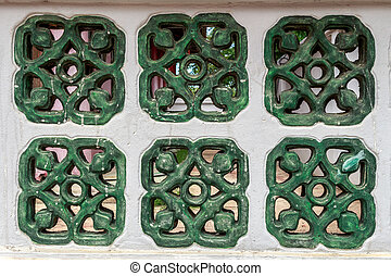 Traditional chinese window wall