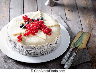 Traditional Christmas Fruit Cake pudding