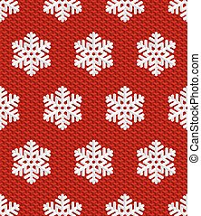 Traditional Christmas Seamless Pattern with White Isometric 3D Snowflakes on wine red background. Editable Vector EPS10 Illustration for New Year Decoration.