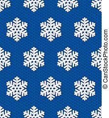 Traditional Christmas Seamless Pattern with White Isometric 3D Snowflakes on deep blue background. Editable Vector EPS10 Illustration for New Year Decoration.