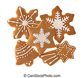 traditional christmas sweet food gingerbread cookies -...