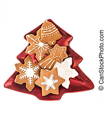 traditional christmas sweet food gingerbread cookies