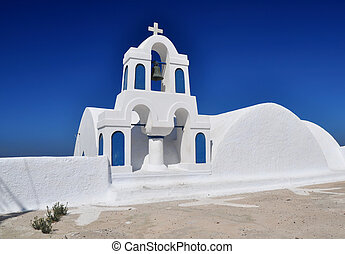 Traditional church in Oia, Santorini, Greece