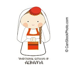 Traditional Clothing of Albania, Europe