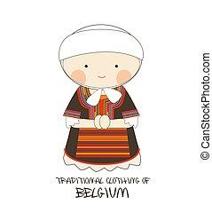 Traditional Clothing of Belgium, Europe