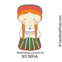 Traditional Clothing of Estonia, Europe