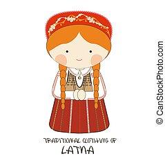 Traditional Clothing of Latvia, Europe