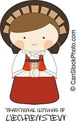 Traditional Clothing of Liechtenstein, Europe