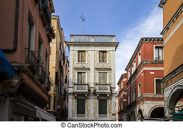 Traditional Colorful Buildings in Venice