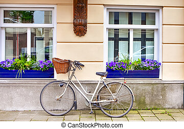 Traditional Conventional Dutcj Bicycle with Basket in front ...