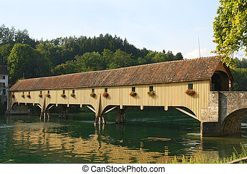 Traditional Covered Wood Bridge