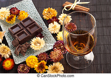 rum and chocolate - traditional cuban rum and chocolate...