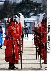 Traditional cultural event in South Korea, Gwanghwamun, ...